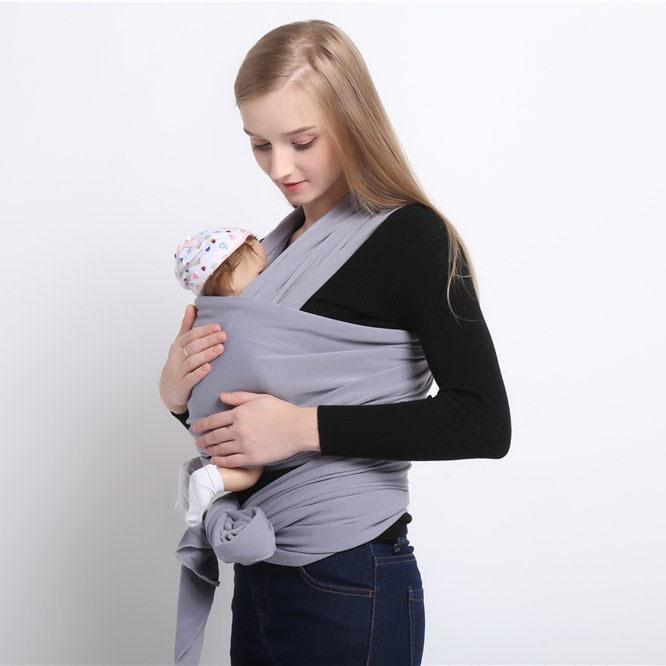 Titular de la algodón Sling Anillo de soporte de envoltura de bebé para  Bebés Niños pequeños d5230a978179