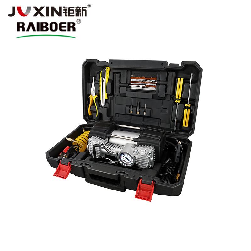 pompa automatica elettrica portatile del gonfiatore dell'aria dell'insieme di strumenti del veicolo del compressore della pompa del gonfiatore della gomma di automobile di 12V 701L/Min