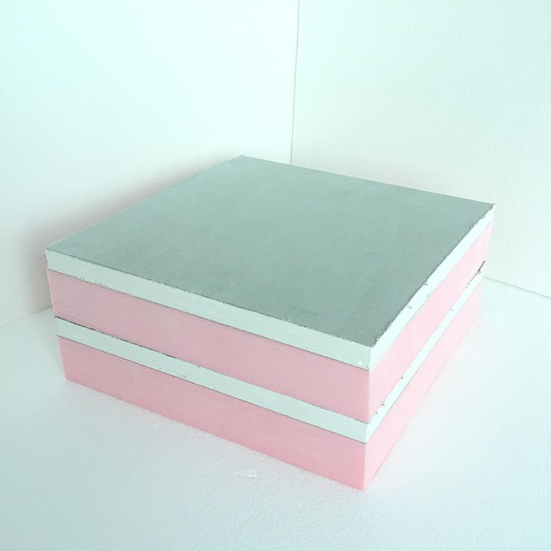 Paneles compuestos de Fuda grado B1 Rosa (XPS 25mm de espesor, paneles de yeso 10mm de grosor)
