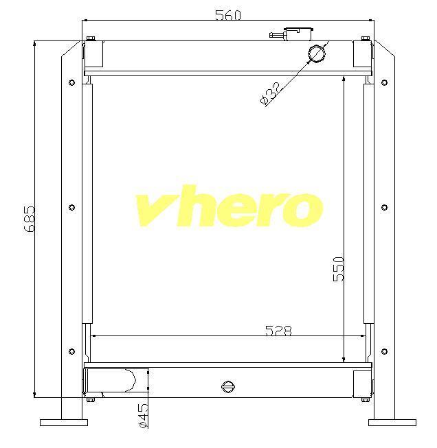 Kühlsystem-Selbstkühler für technisches Fahrzeug XCMG Ec80