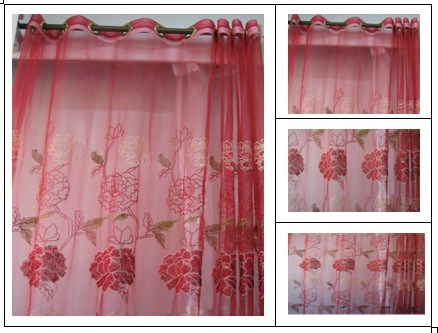 Embroidery Curtain Fabric (091)