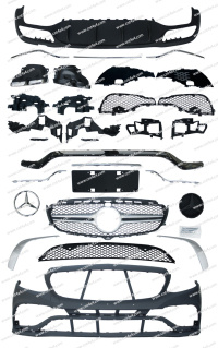 W213改築の変換Bodykit、W213 E63 Amgへの新しいEのクラスのアップグレードのためのBodykit