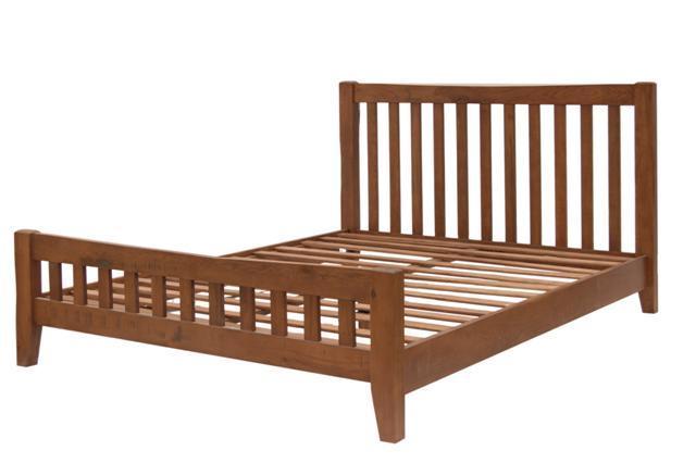 Cama o Cama de madera de roble sólido/cama de madera rústica/Madera ...