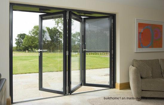 Eigentijds kijk het aluminium dat van het terras deuren voor