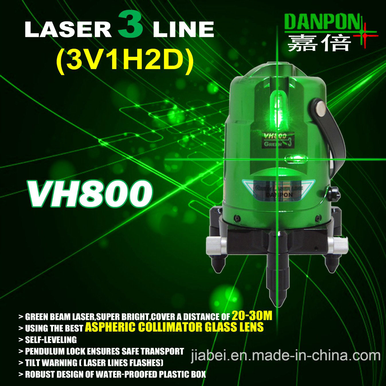 PREMIUM Auto Leveling lignes laser vert niveau horizontal vertical haut