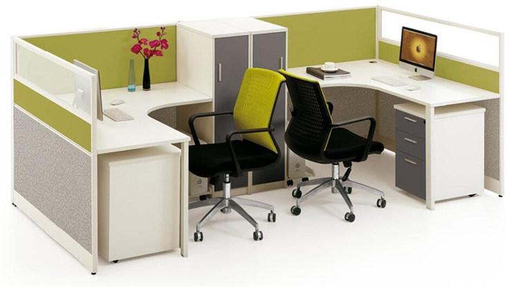 Top Poste de travail moderne de bureau de modèle neuf pour pour deux  KF74