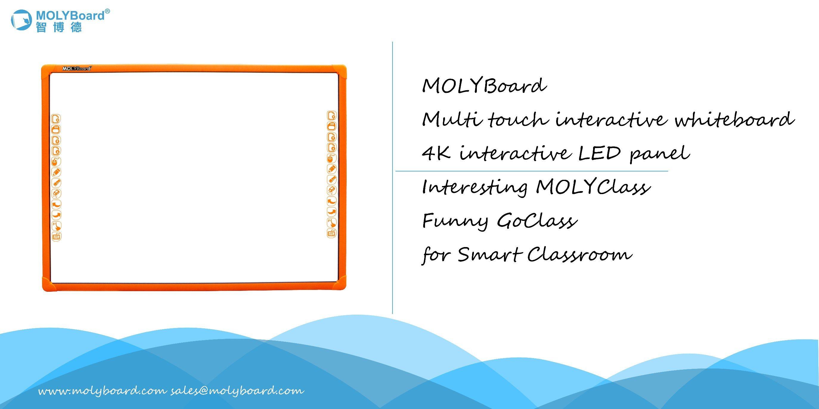 Equipamento didáctico Molyboard quadro branco interativo de escrita multi