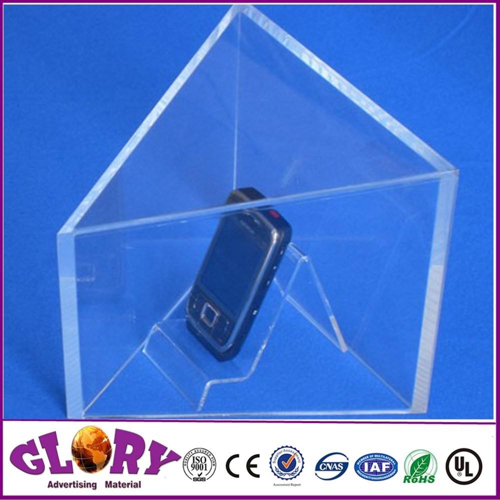 Foto de La pantalla de plástico acrílico de doble cara con los ...