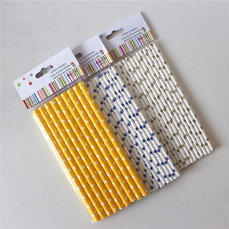 Papiertrinkhalm-Partei-Produkte mit Stern-Entwürfen