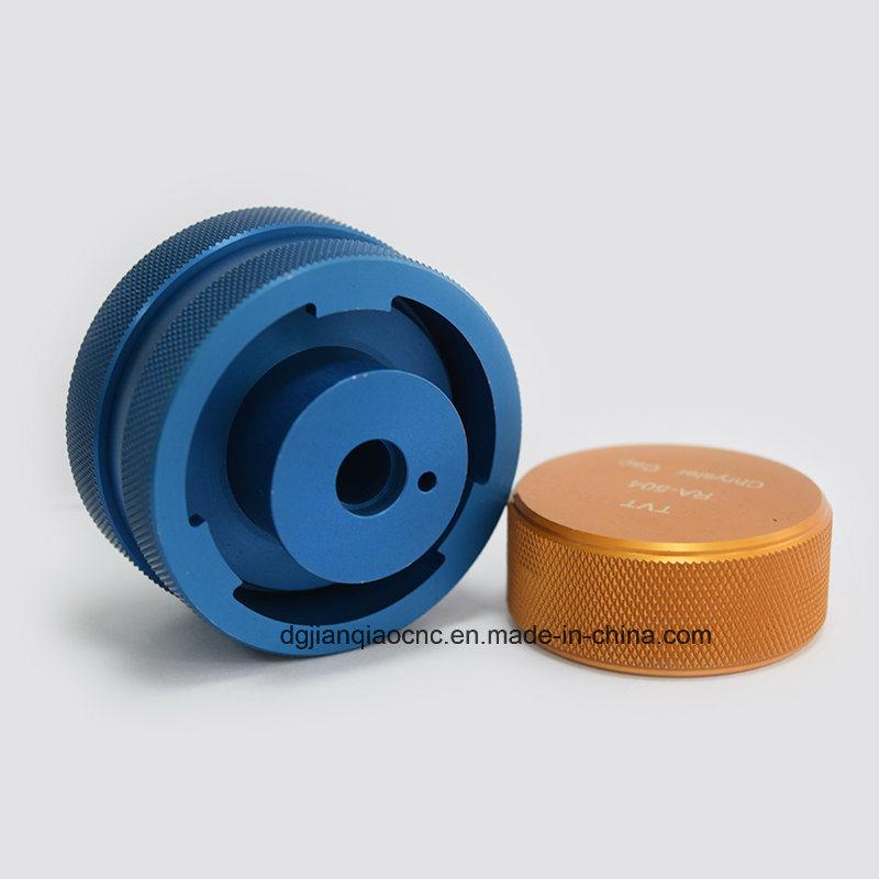 Rainure centrale pièce mobile à commande numérique, la couleur des pièces en aluminium anodisé, le logo de Laser Pièces de métal
