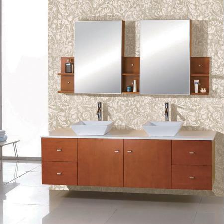 Los muebles modernos del cuarto de ba o pared colgaron for Cuarto bano moderno