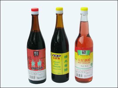 Chinois de vinaigre de riz rouge/noir