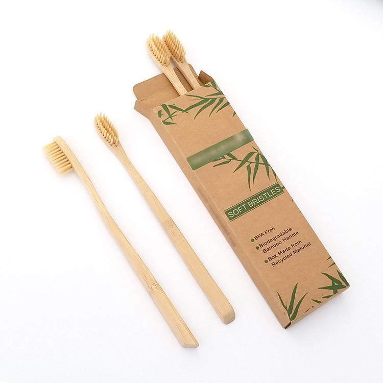 De installatie-gebaseerde Natuurlijke Grootte van de Volwassene/van de Kinderen van de Tandenborstel van het Bamboe, BPA Vrij Varkenshaar, Pak van 4