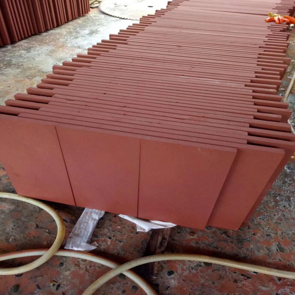 Arenaria rossa della fabbrica professionale per lastre della pietra della parete le piccole