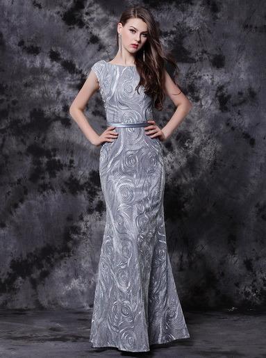 China Color Plata Elegante Vestidos De Noche Comprar