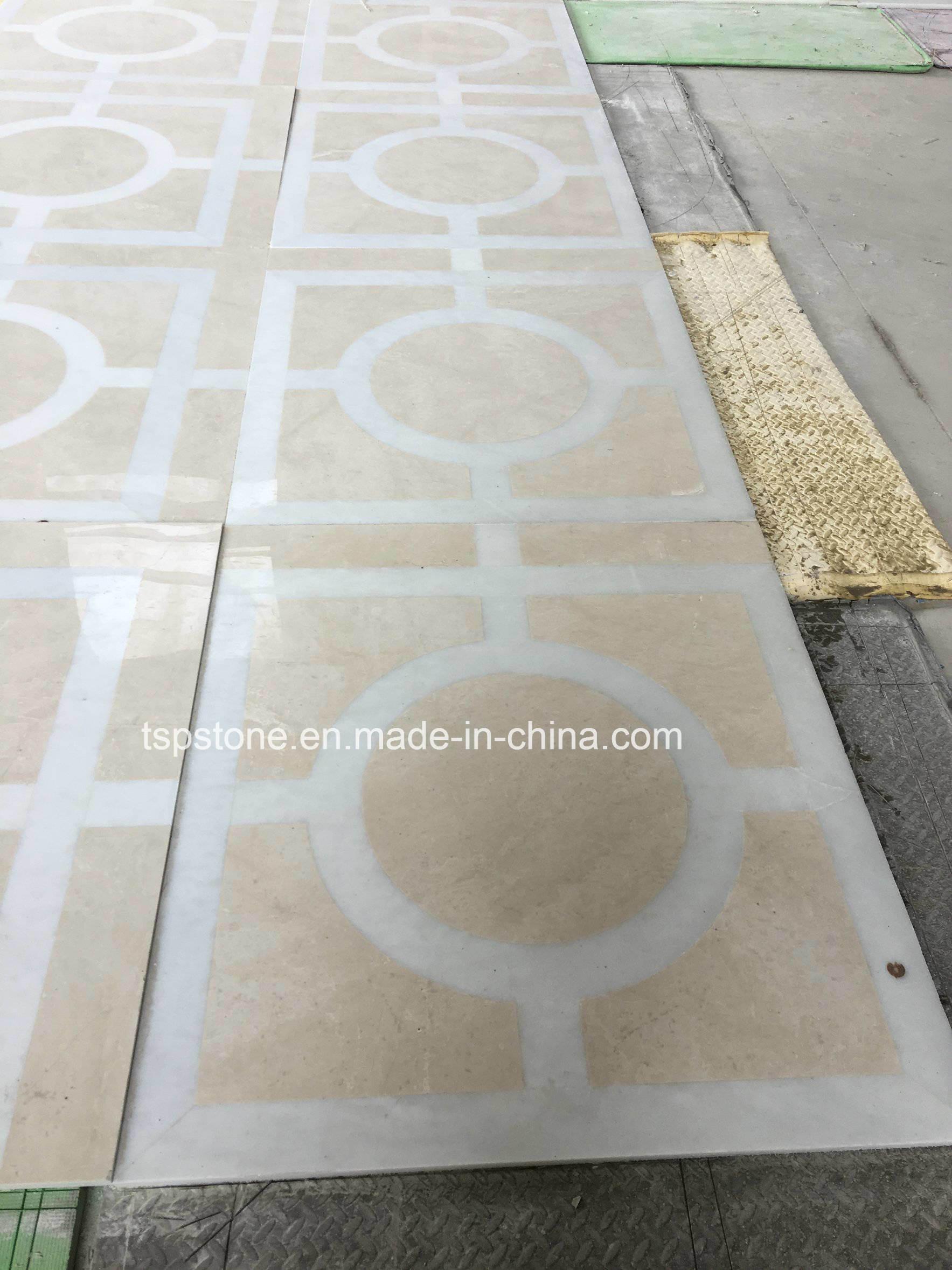 Natürlicher Steinwasserstrahlmarmor für Fußboden/Bodenbelag/Wand ...