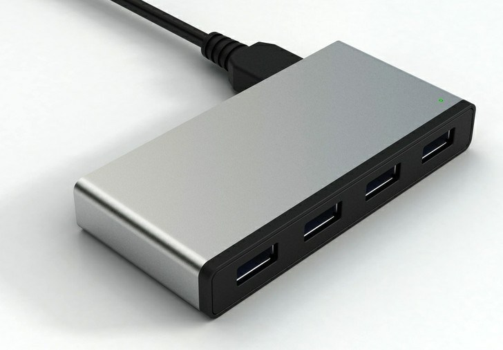 유니버설 4 알루미늄 덮개를 가진 운반 USB 허브