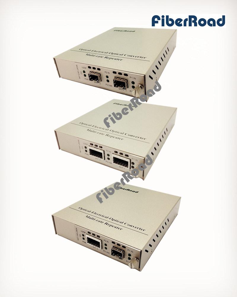 Com porta XFP ou SFP+ 10g Oeo Conversor de mídia de fibra (3R repetidor)