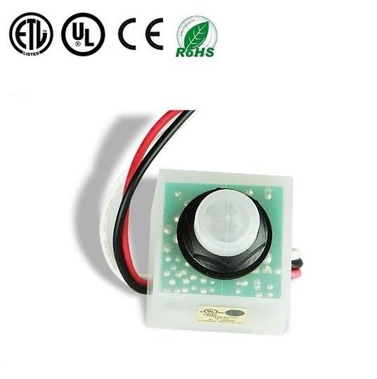 El interruptor del sensor de fotos electrónicos LED para iluminación exterior de la fotocelda