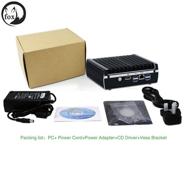 Fox Barato Roteador Firewall Kaby Lake 3865U PC Mini 12v 6 Pfsense LAN Server suporta AES-NI