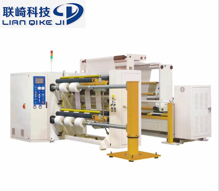 PE/máquina de corte de cinta rebobinando