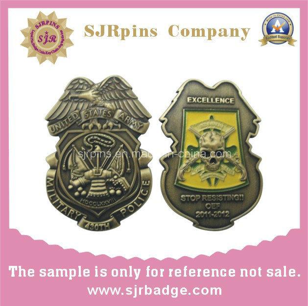 Muntstuk van het Metaal van de Kanten van Manufactory van de fabriek het Militaire Dubbele, Medaille