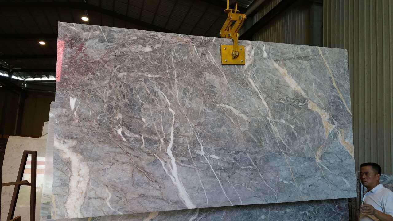Leeste Silver Galaxy dalle de plancher de marbre Cecilia Fior di Pesco de  marbre de marbre gris