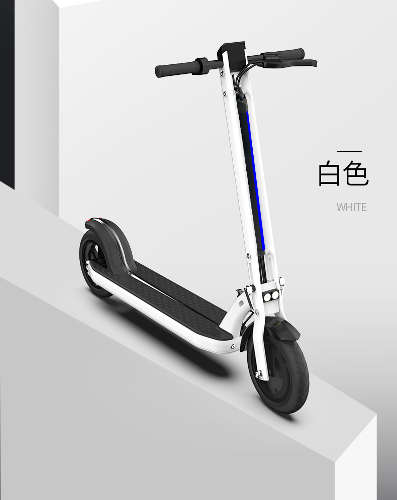 Groothandel fabrieksprijs Goedkoop 250W 8.5''' Band LED Light Tail Lichte APP-verbinding touchscreen LCD-scherm opvouwbare antidiefstalscooter E Scooters