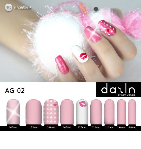 Dazln Snf Unha deslumbrar (LED) Conjunto de autocolantes AG-02