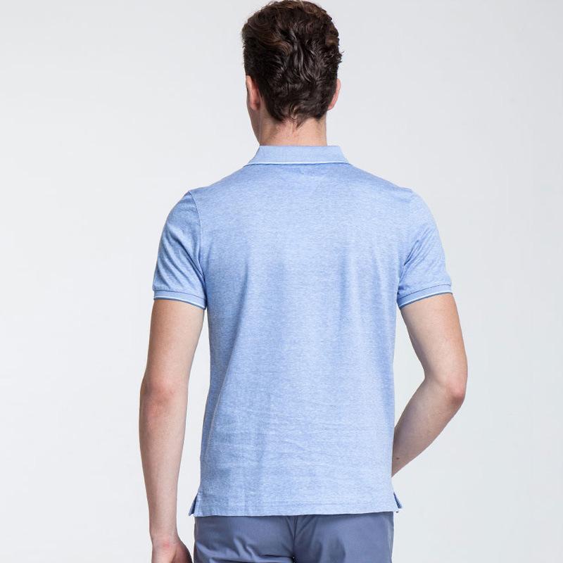 49d780e00d3c7 Commerce de gros Mens 100 chemises polo en coton avec logo personnalisé  broderie ou de l