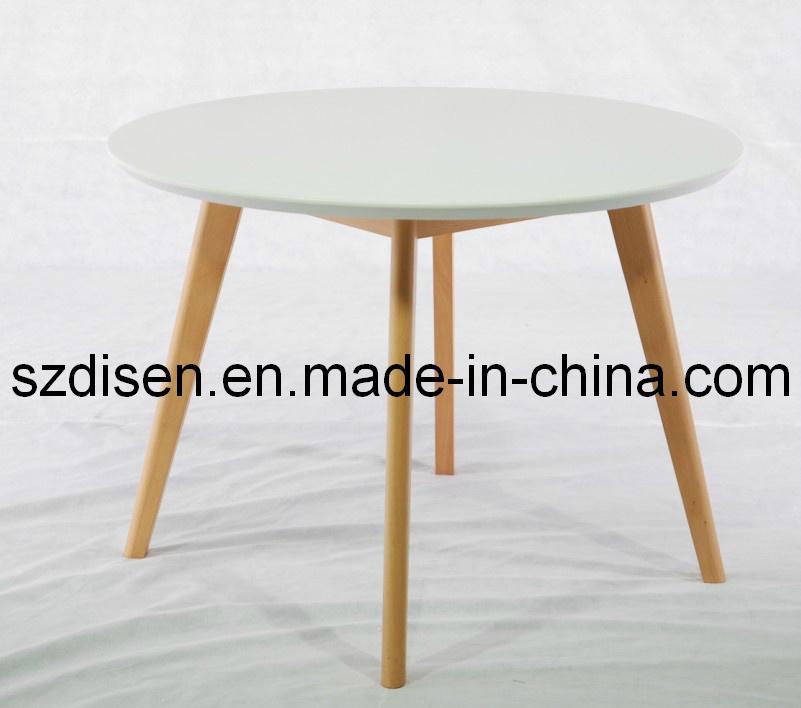 Moderna mesa de madera maciza comedor eames peque o mesa for Mesa de madera maciza