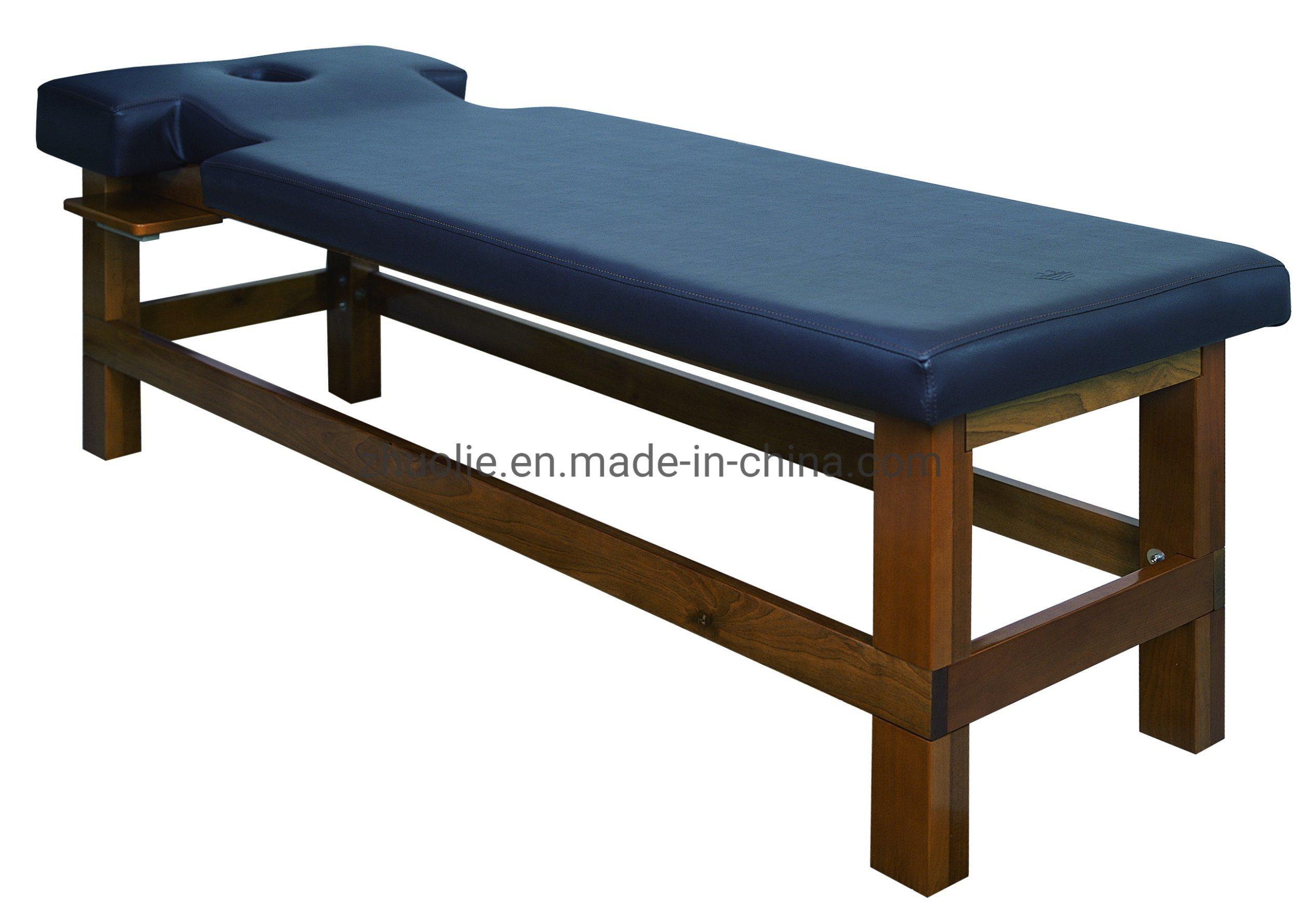 سرير تدليك خشبي بسيط ورخيص لمنتجع Salon الصحي (D09B)