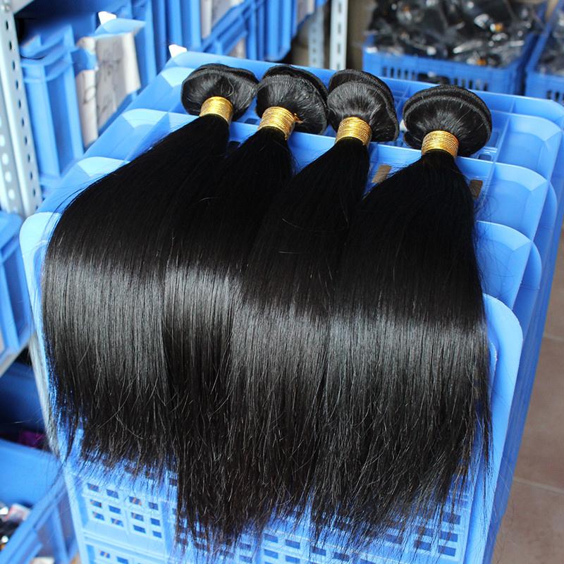 Необработанные бразильские Virgin волосы прямые естественного цвета дешевые человеческого волоса комплекты