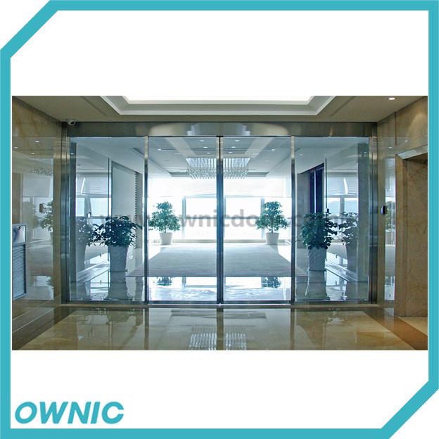 Puerta corrediza de vidrio automática de la SS304 el bastidor de la serie completa de los bancos, el aceite de trenes, edificios comerciales