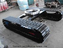 8t Steel Track Undercarriage met Slewing Bearing voor Excavator