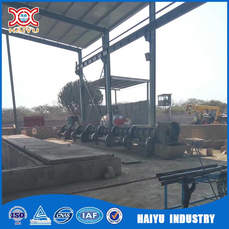 Le béton d'électricité filé pôle équipement de fabrication de la ligne de production
