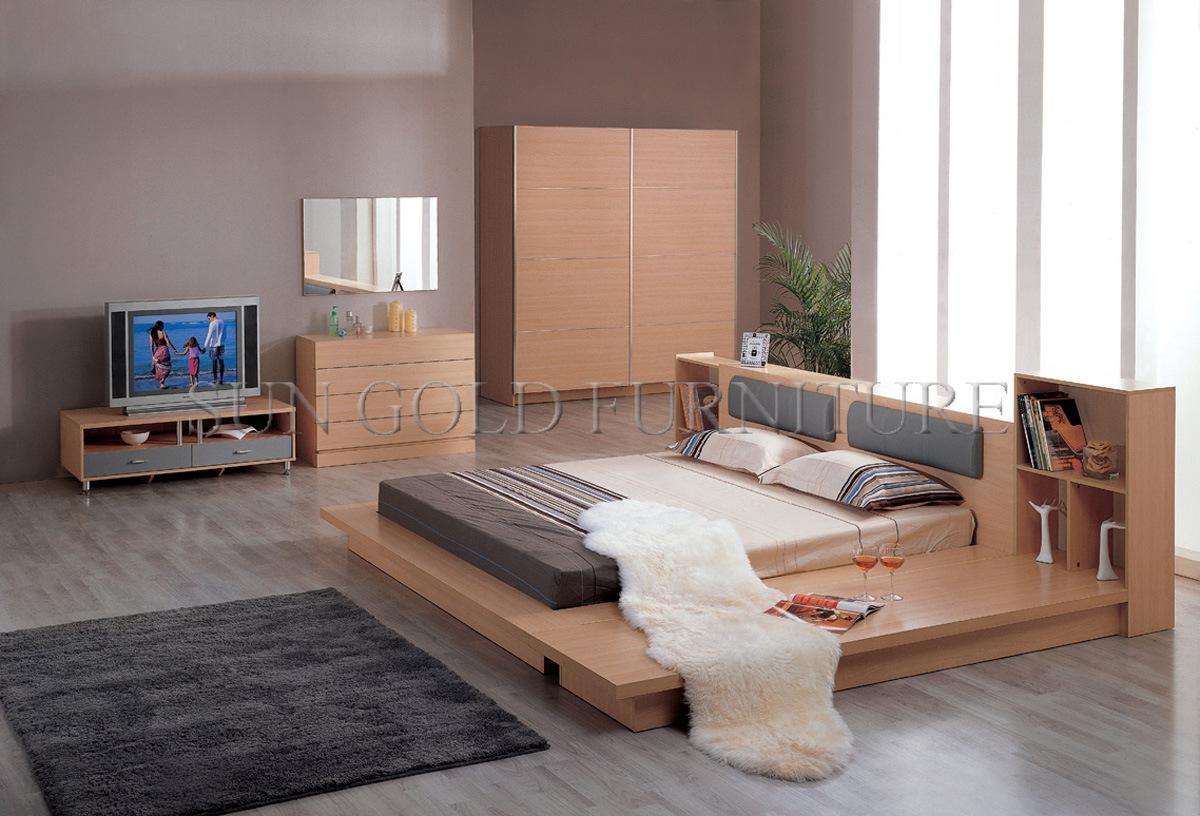 moderne schlafzimmermobel, moderne schlafzimmer-möbel stellen flaches bett ein (sz-bf095) foto, Design ideen