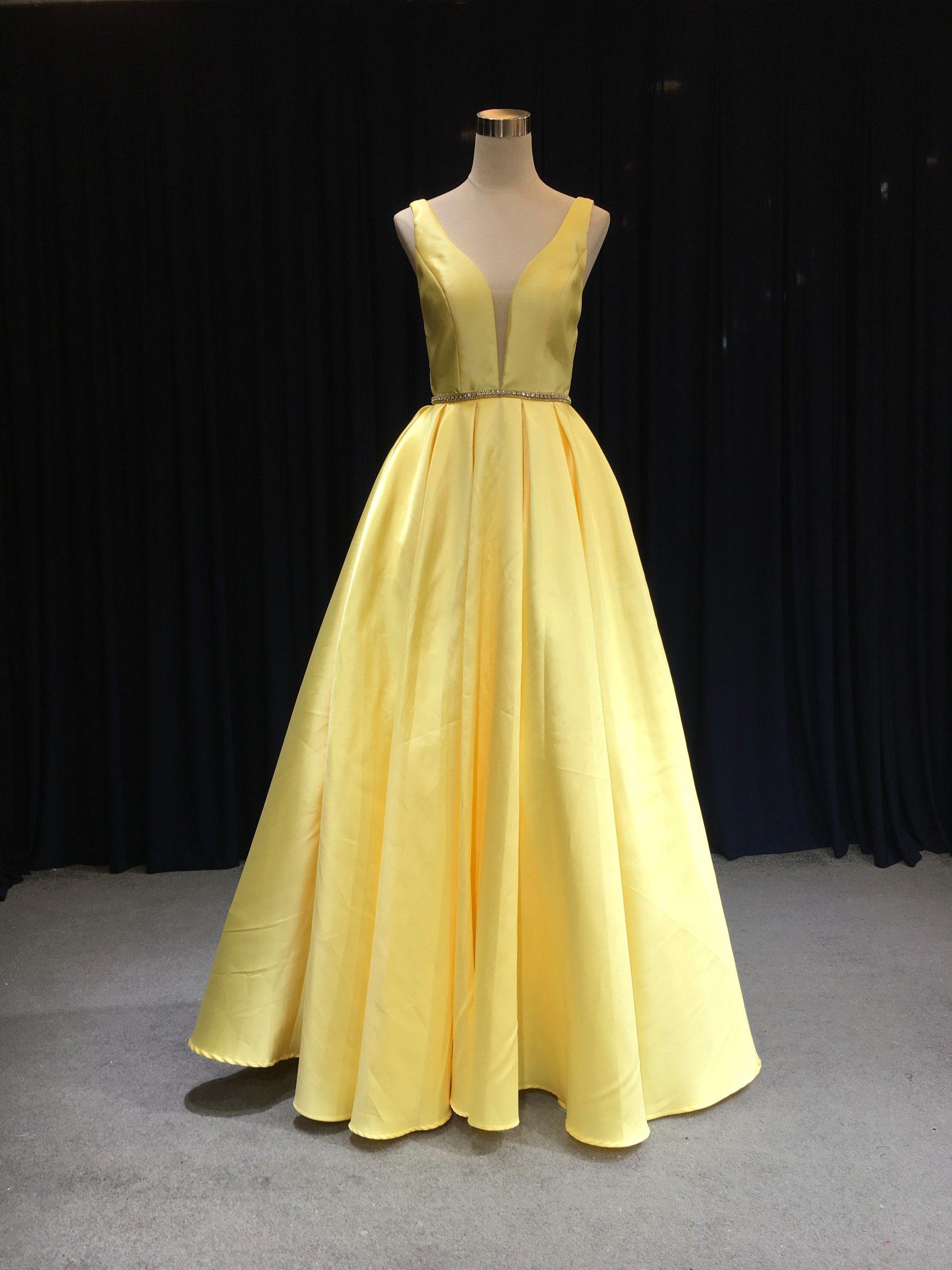 64d9e6b3bb7b [Hot Item] Aoliweiya Diseño de Moda Vestido de Noche 2019 - Amarillo