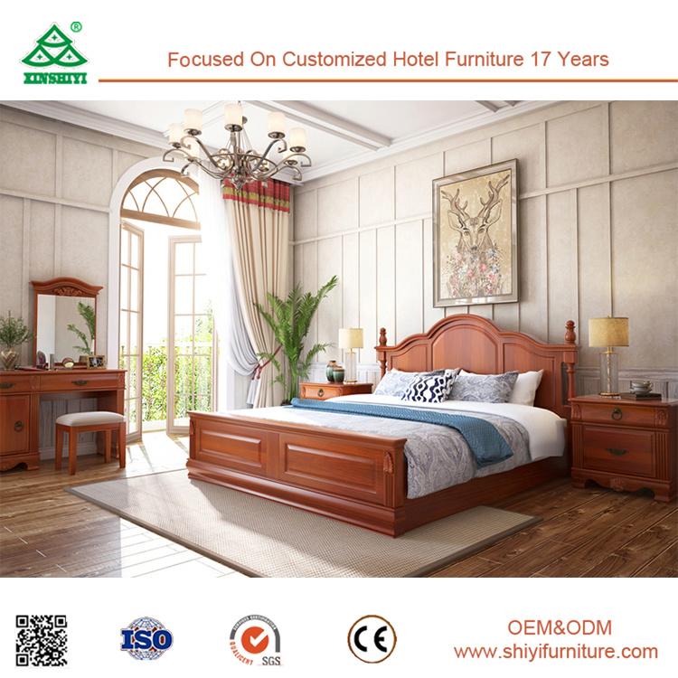 Foto de La madera de tamaño King Size Cama doble cama dormitorio ...