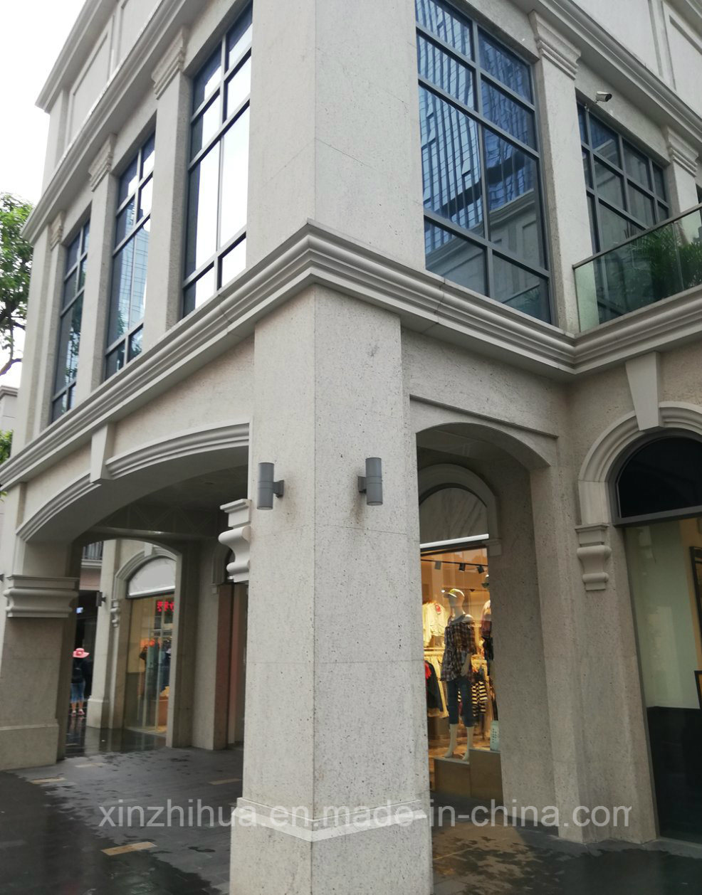 Pierre De Parement En Granit le brésil façade en granit blanc/galaxy murs carrelés de