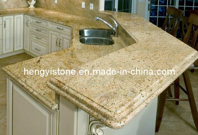 Precio de oro kashmire encimera de granito encimeras de laminado alto brillo bs ct36 precio - Encimera de granito precio ...