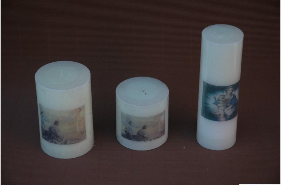 ハンドメイド教会蝋燭