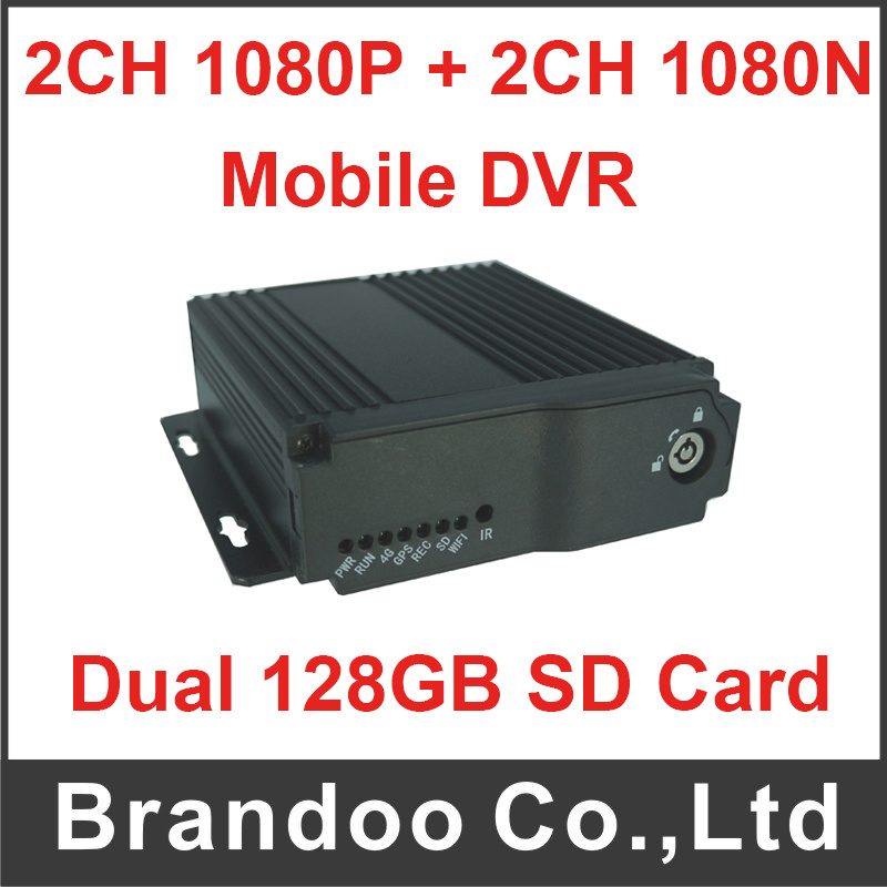 4CH最大移動式DVR記録SDカード。 2PCS 128GB SDのカード