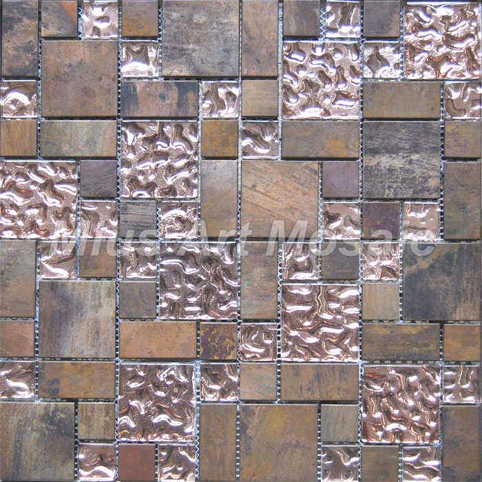 Vs mosaico de vidrio de bronce para la cocina Backsplash (A6YBG013 ...