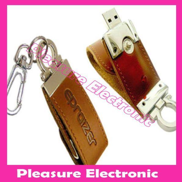 Unidade de Memória Flash USB de couro (Fundamento-250)