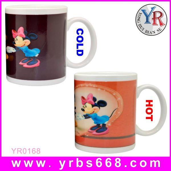 工場Wholesale Price 11oz Color Changing Ceramic Mug