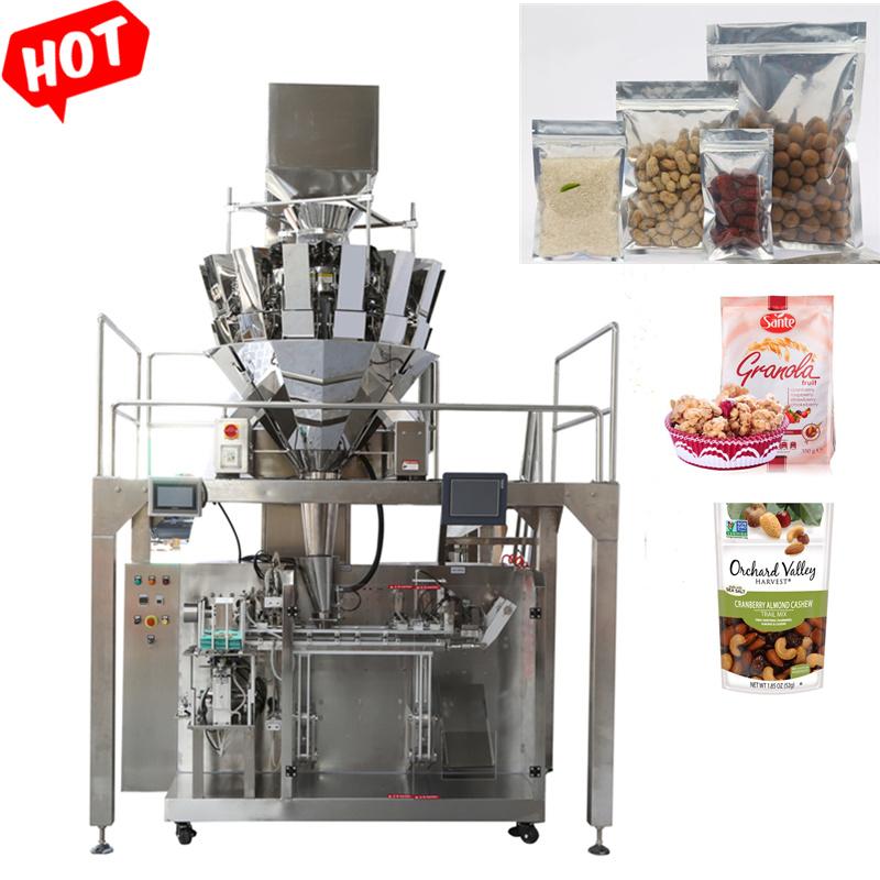 Elektronische weegfunctie voor grote schaal met meerdere koppen Automatische snacks Foods Automatic Verpakkingsmachines machines