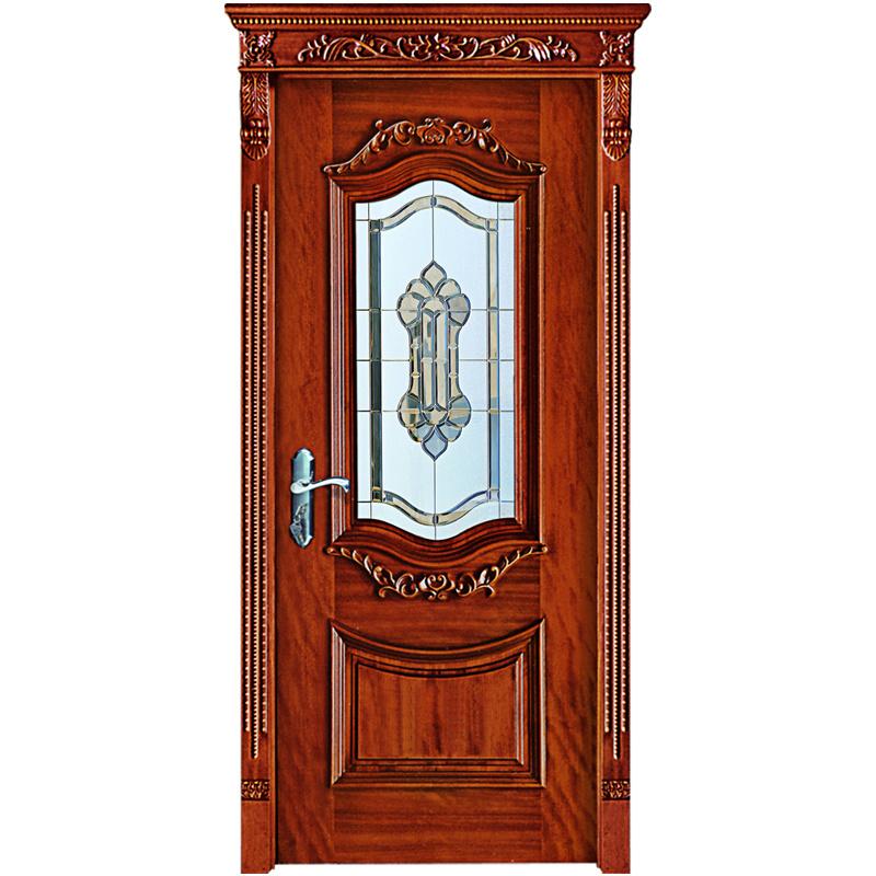 Porta Principale Personalizzata In Legno Massiccio Con Vetro (Yh-6017-1)