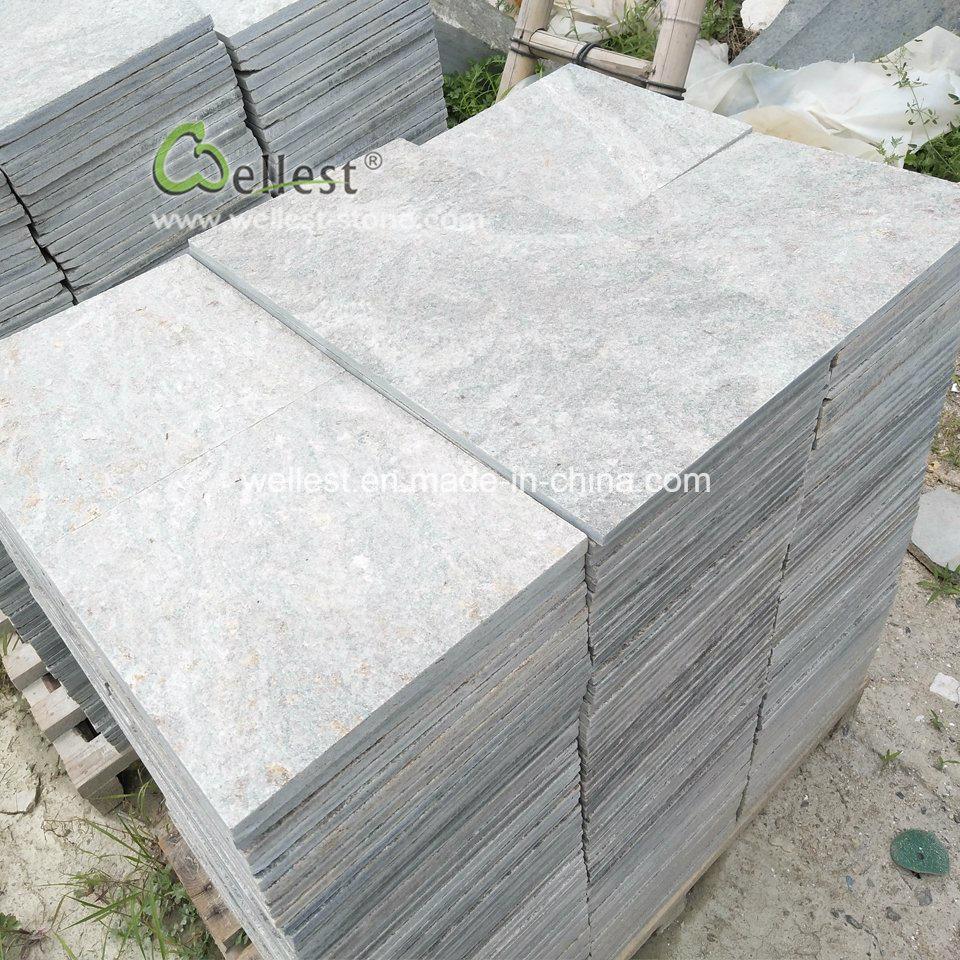 Patio Jardin Piscine Piscine Paving Stone Tuile De Quartzite Verte