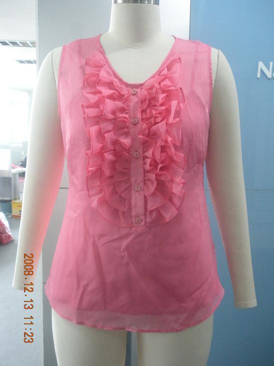 Blusa de seda de la mujer (9S4964)